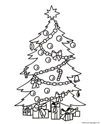 christmas tree and present coloring pages printable