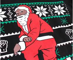 nas is selling black santa sweaters and giving proceeds to a non