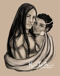 Native American Home Decor Catalogs Native American Male And African Woman By Kiratheartist Deviantart