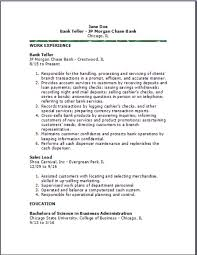 Resumes For Banking Jobs by Bank Teller Resume Examples Samples Free Edit With Word