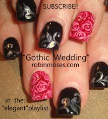 robin moses nail art how to paint roses rose nails red roses