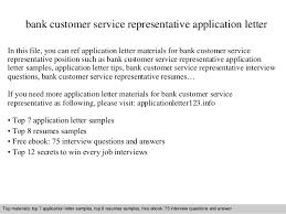 Bank Customer Service Representative Resume Sample by Bank Customer Service Representative Application Letter