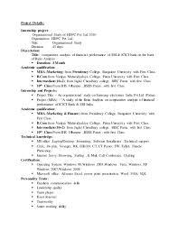 Resume For Icici Bank Po Hatim Bank Resume
