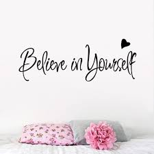 Living Room Quotes by Believe In Yourself Wall Sticker Decor Stickers Home Decor Living