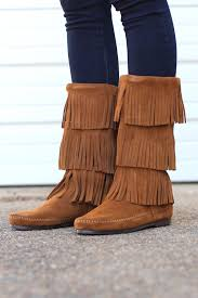 womens fringe boots size 11 minnetonka 3 layer fringe boot dusty from the fair