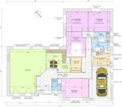plan 4 chambres plain pied plan maison plain pied 4 chambres avec suite parentale coin de la