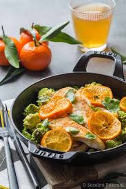 cuisiner chou romanesco aiguillettes de poulet à la clémentine de corse et chou romanesco