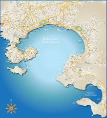 Puerto Vallarta Mexico Map by Acapulco Bay Tourist Map