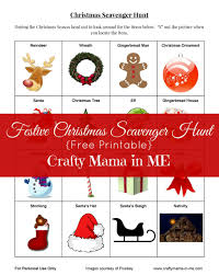 festive christmas scavenger hunt free printable crafty mama in me