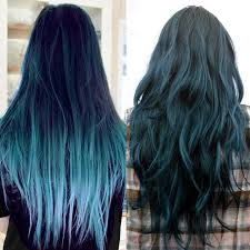 Can You Black With Color Hair Trends 2015 10 Blue Dip Dye Hair Colors For