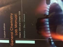 general chemistry lab manual chem 1215 and chem 1225 stanton