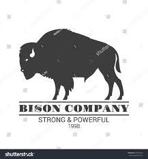 bison company logo template vector black stock vector 604569410