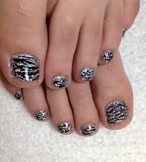 mariah zebra rockstar toes jpg 1 446 1 600 pixels nails