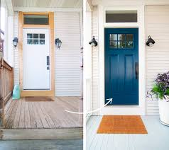 Exterior Door Colors The Painted Front Door Yellow Brick Home