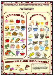 countables uncountables pictionary worksheet free esl