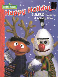 4 christmas coloring books sesame street frosty snowy sale
