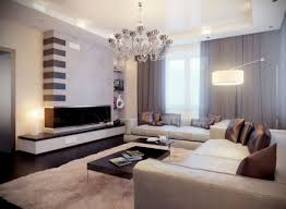 Black And White Modern Curtains Indoor Design Interior Family Room With Long Sofa And Pillow And