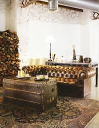 Antique Tufted Sofa by For The Love Of Tufting Masculine Room Leather Chesterfield