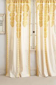 Yellow Patterned Curtains Marrakech Curtain Marrakech Anthropologie And Yellow Curtains