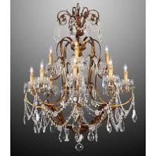 Bronze Chandelier With Crystals Crystal Chandeliers