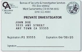 california private investigator pi license test exam 2012 2013