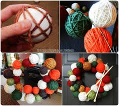 top 35 astonishing diy christmas wreaths ideas yarn ball wreath