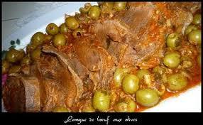 cuisine langue de boeuf langue de boeuf aux olives recette algérienne fatiha cuisine