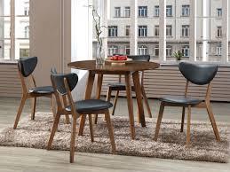 table et 4 chaises ensemble table 4 chaises lisette hévéa simili noir