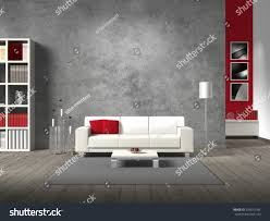 White Modern Living Room Modern Living Room 3d Rendering White Stock Illustration 226872184