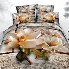 Flower Bed Sets Alicemall 3d Flower Bedding Sets 100 Cotton Magnolia