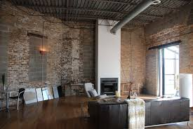 exposed brick feature wall dining room interior design ideas