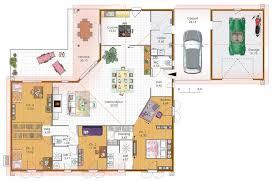 plan de maison 4 chambres plain pied grande maison 4 chambres avec terrasse garage et carport plans