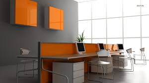 Make Your Office More Inviting Hd Wallpaper Orange Office Artistic Desktop Wallpaper Orange