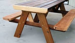 Folding Wooden Picnic Table Plans by Table Picnic Table To Bench Seat Amazing Picnic Table Designs