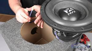 how to install a car subwoofer in a box youtube