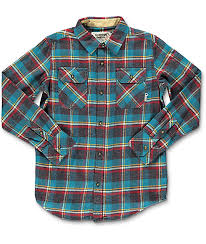 burton brighton yolo plaid boys flannel shirt zumiez