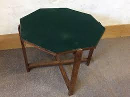 fold away card table art deco oak octagonal card table green baize flip top fold away