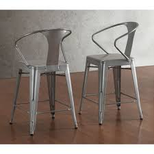 tabouret silver with back 24 inch counter stools set of 2 by i