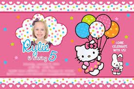 hello kitty birthday invitations lilbibby com