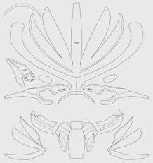 dali lomo predator costume mask cardboard diy template