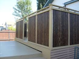 deck privacy screen bamboo design and ideas