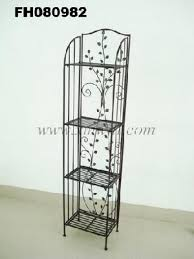 wrought iron glass tiers bookshelves bookcase living room storage