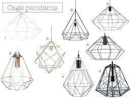 Wire Pendant Light 3 In 1 Pendant Lighting 1 Large White Pendant Light 2 Iron Metal