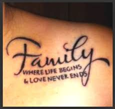 family quote tattoos tattoos tatting and