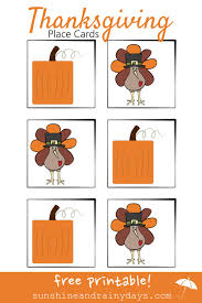 thanksgiving place card printable and rainy days