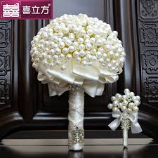 diy bouquet customized wedding bridal bouquets pearl diamond