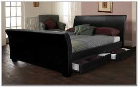 Leather Sleigh Bed Bedroom Modern King Sleigh Bed Design For Bedroom Ideas With