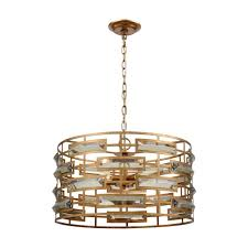 Titan Pendant Light Titan Lighting Metro 5 Light Gold And Clear Pendant Tn