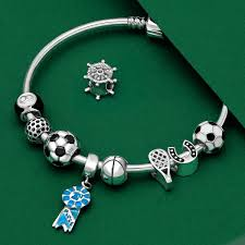 silver bracelet beads charms images Golf ball 925 sterling silver bead pandora compatible charm jpg