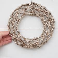 twig wreath chagne glitter twig wreath wreaths floral supplies craft